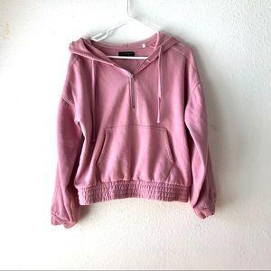 Pink Supersoft Quarter Zip Hoodie